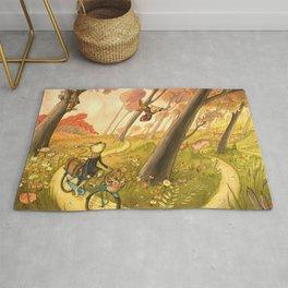 Bike Ride Through The Woods Rug