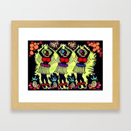 Hula Dancers Framed Art Print