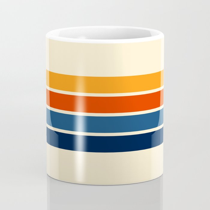 Classic Retro Stripes Coffee Mug