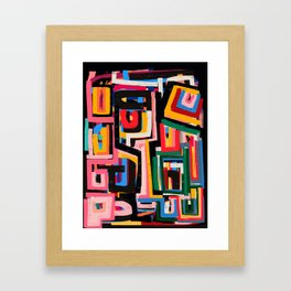 Neo Cubism Abstract Art Pattern Mystic Framed Art Print