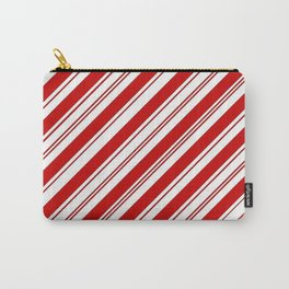 winter holiday xmas red white striped peppermint candy cane Carry-All Pouch