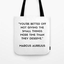 MARCUS AURELIUS  Stoic Philosophy Quote Tote Bag