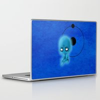 watchmen Laptop & iPad Skins featuring Chibi Dr. Manhattan by artwaste