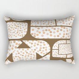 Expressive Windows of Brown and Rust Dots Rectangular Pillow