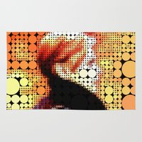 """david bowie Area & Throw Rugs featuring David Bowie """"Low"""" by Louis Loizou"""
