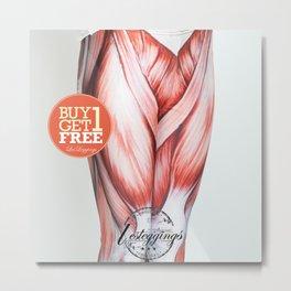 Muscle Leggings- Women Muscle tights- Printed Pants- Yoga Pants-NotMuscle tee Muscle tank-DDK0006 Metal Print