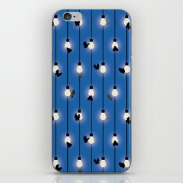 Moths on Fairy Lights iPhone Skin