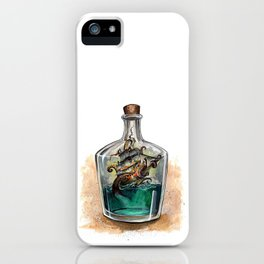 Ship in a bottle iPhone Case