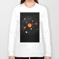 sports Long Sleeve T-shirts featuring Solar Sports by Naomi Batts