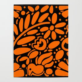 Beautiful Orange Otomi Poster