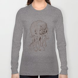 Miskatonic Surgery - Cthulhu (Megalodon cephalopoides) Long Sleeve T-shirt