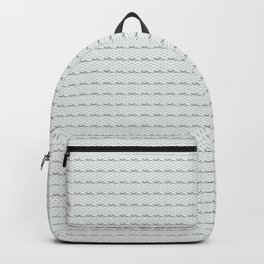 Phillip Gallant Media Design - Black Squiggles on White Backpack