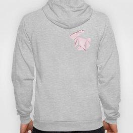 Pink origami bunny Hoody