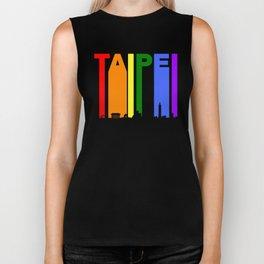 Taipei Taiwan Gay Pride Rainbow Skyline Biker Tank