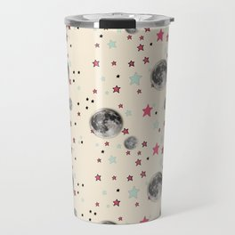 Paper Moon Collection | Moon and Stars Pattern Travel Mug