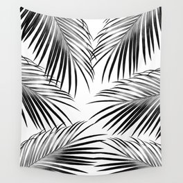 Black Palm Leaves Dream #2 #tropical #decor #art #society6 Wall Tapestry