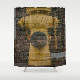 Brick Hydrant Shower Curtain