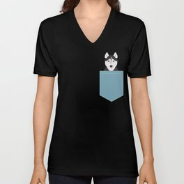 Shiloh - Husky Siberian Husky dog art phone case perfect gift for dog people Unisex V-Neck