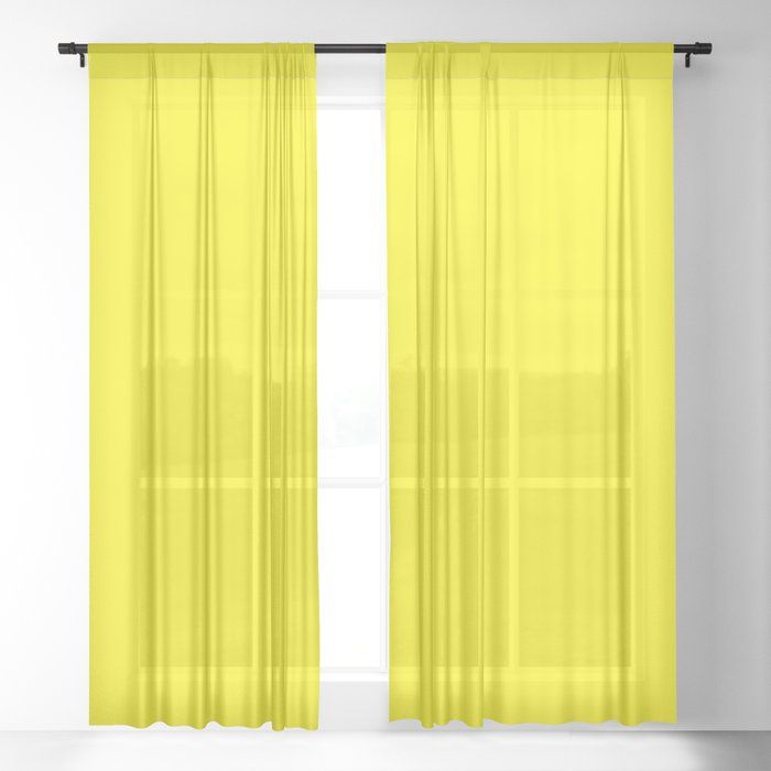 Flower Garden ~ Yellow Sheer Curtain