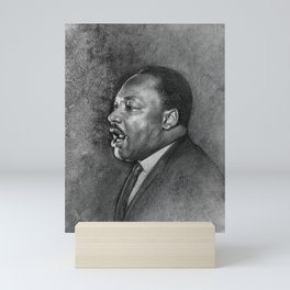 """Dr. King """"I've Been to the Mountaintop"""" (April 3 1968) Mini Art Print"""