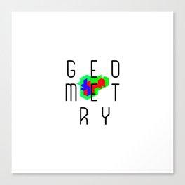 Cube Geometry Optical Illusion Puzzle Art Canvas Print