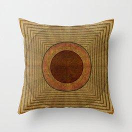 """Golden Circle Japanese Vintage"" Throw Pillow"
