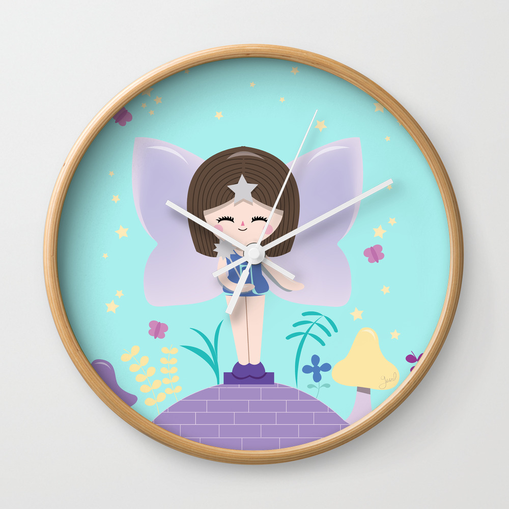 Polly Pocket Fairy Lulu Wall Clock by Guzel CLK8443503