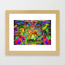 The Laser Focus of Couger Conciousness Framed Art Print