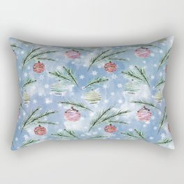 Christmas pattern. 2 Rectangular Pillow