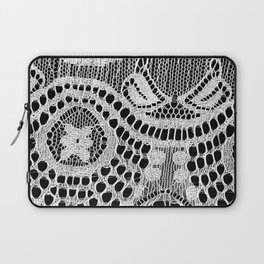 White Lace Pattern Laptop Sleeve