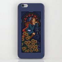 nouveau iPhone & iPod Skins featuring Pond Nouveau by Karen Hallion Illustrations