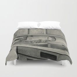 Cluttered Counter Duvet Cover