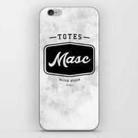 totes iPhone & iPod Skins featuring Totes Masc - Vintage by lessdanthree