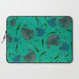 Angry Little Fish Pattern Laptop Sleeve