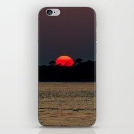 Edisto Island Fiery Sunset iPhone Skin