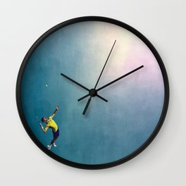 Novak Djokovic Tennis Serving Artsy Wall Clock