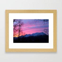 Bright Winter Sunrise Framed Art Print