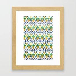 Pineapple Tiles Framed Art Print