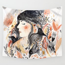 Crows & I Wall Tapestry