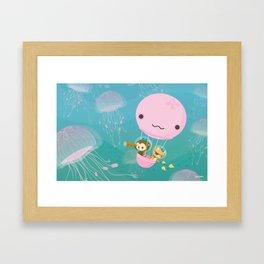 The Octonauts Jellyfish Balloon Framed Art Print