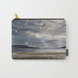 Swans on a Scottish Loch Carry-All Pouch