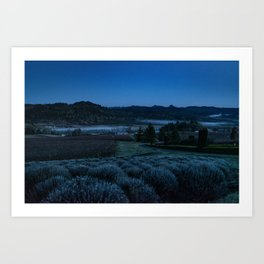 Through the Mountains and Valleys Art Print