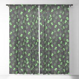 Aliens-Green Sheer Curtain