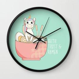 Faith Trust & Ramen Wall Clock