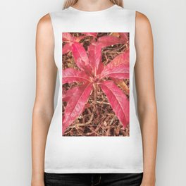 Autumn Colored Leaves Biker Tank