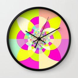Bright & Pastel Kaleidoscope Wall Clock