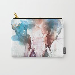 Elephant head / Abstract animal portrait. Carry-All Pouch