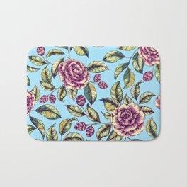 Violet Roses Bath Mat