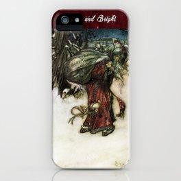 Father Christmas 2, Vintage Arthur Rackham Santa iPhone Case