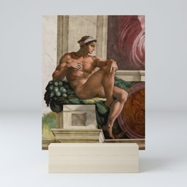 "Michelangelo Buonarroti ""Ignudo"" (1) Mini Art Print"